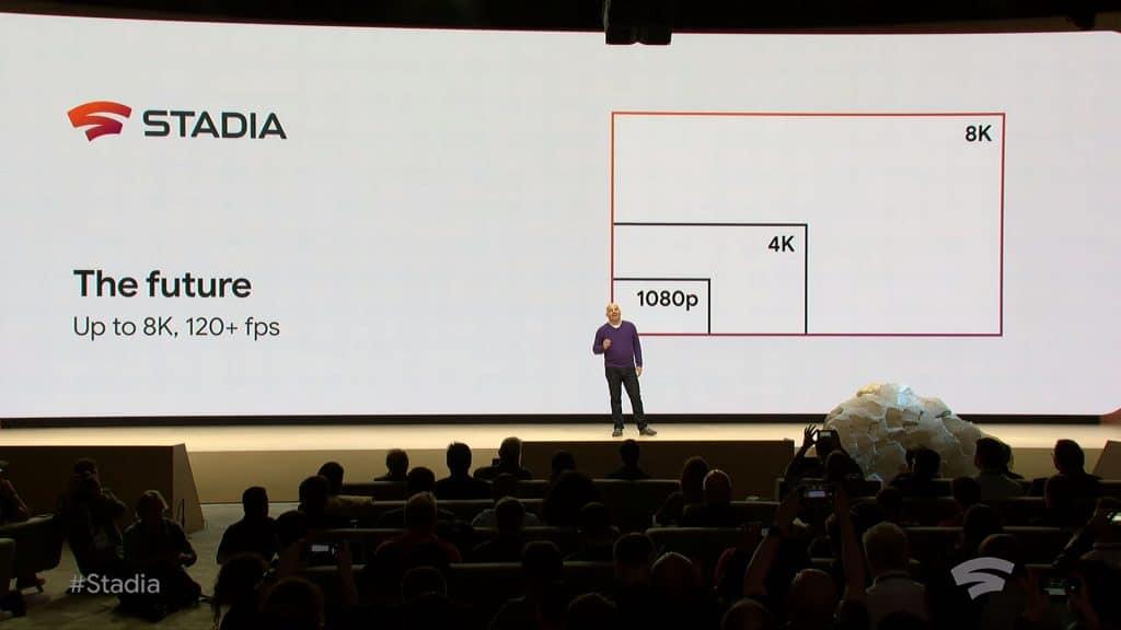 Stadia bietet zum Start flüssiges 4K/60p Gaming. In Zukunft ist 8K-Gaming und bis zu 120fps möglich