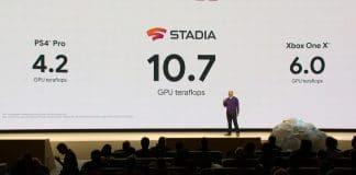 Stadia hat eine errechnete Grafikpower von 10.7 teraflops und ist damit theoretisch stärker als die PS4 Pro und Xbox One X zusammen.