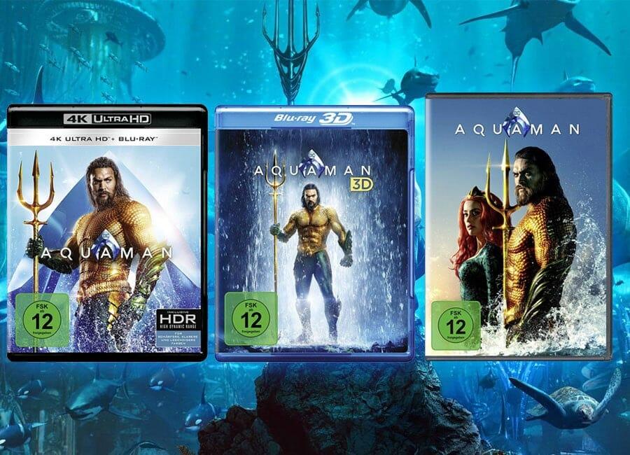 AQUAMAN erscheint auf 4K Blu-ray mit Dolby Vision HDR und