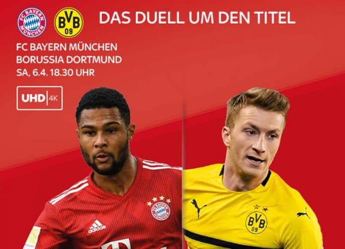 Live und exklusiv auf Sky: Der FC Bayern München gegen Borussia Dortmund in 4K UHD! || Bildquelle: sky.de