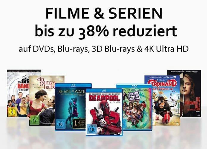 Satte Prozente auf DVDs, Blu-rays, 3D Blu-rays und 4K Blu-rays sichern!