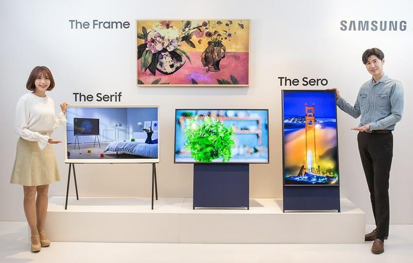 Stolz präsentiert Samsung seine Lifestyle TVs 2019: The Frame, The Serif und The Sero
