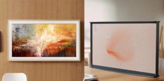 The Frame 2019 (links) und The Serif 2019 (rechts) - Samsungs neue Lifestyle-TVs