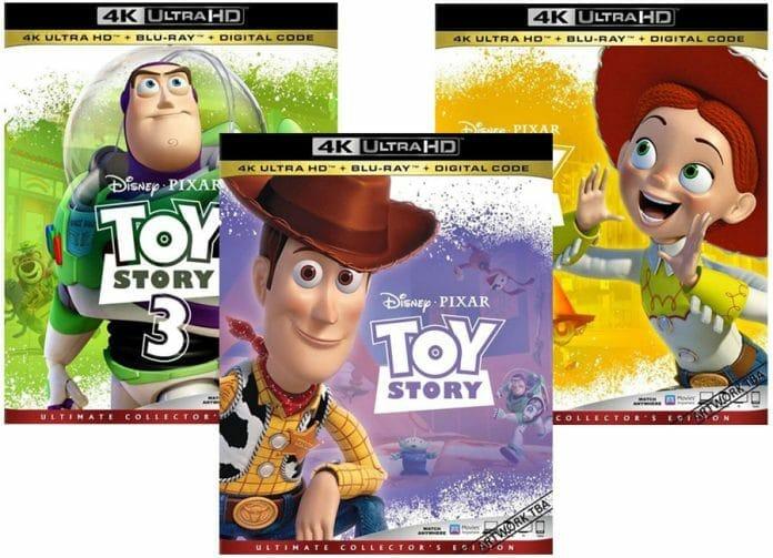 Erscheinen hoffentlich auch hierzulande auf 4K Blu-ray: Toy Story 1-3