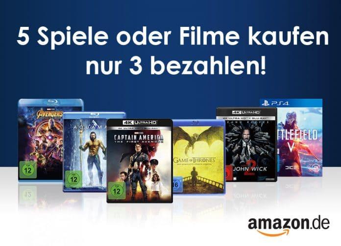 Bis zu 40% auf über 50.000 Titel sparen - 5 Filme oder Spiele kaufen, nur 3 bezahlen
