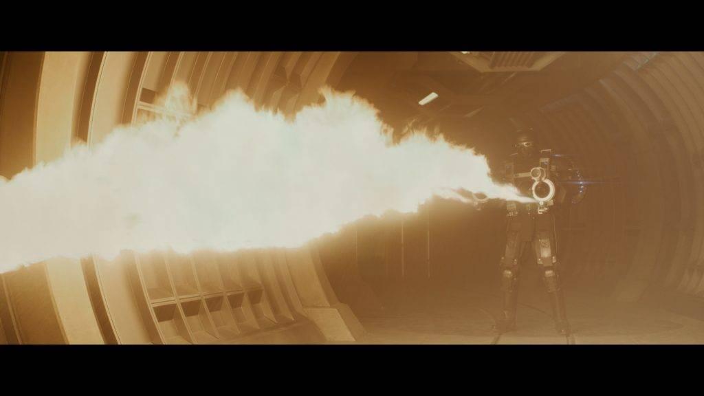 Der deutsche Dolby Digital Plus 5.1 Mix sorgt wie dieser Flammenwerfer für Atmosphäre