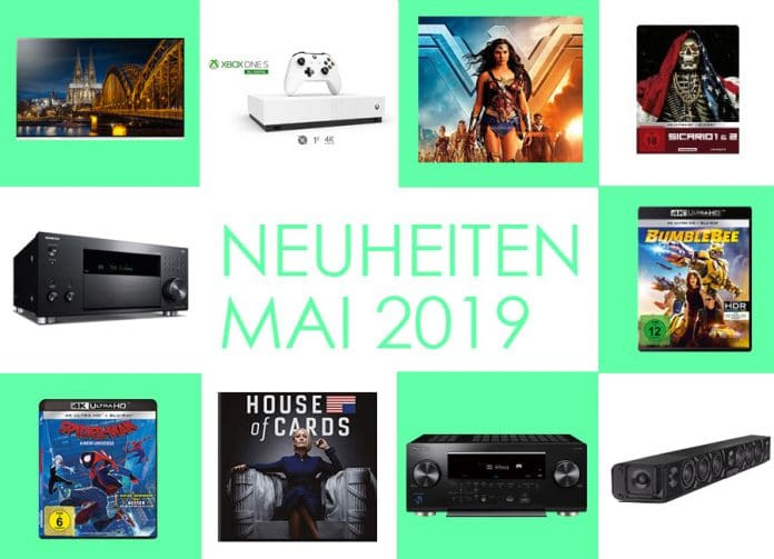 Neuheiten Mai 2019 aus den bereichen Technik, Film, Serien & Games