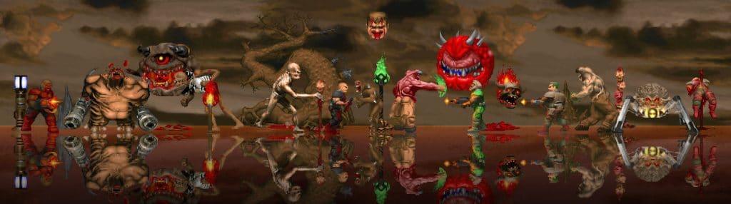 Doom Gegner mit hochskalierten Texturen