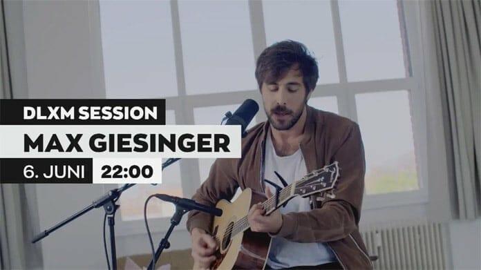 Ganz Privat mit Max Giesinger in der in der Deluxe Music Session