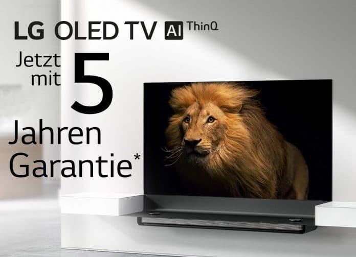 Auf LGs neue OLED TVs der Serie 9 gibt es für kurze Zeit 5 Jahre Garantie!