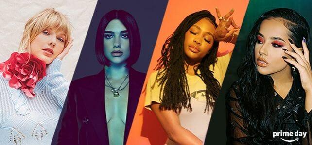 Taylor Swift, Dua Lipa, SZA und Becky G. geben auf dem Prime Day Konzert ihr Bestes