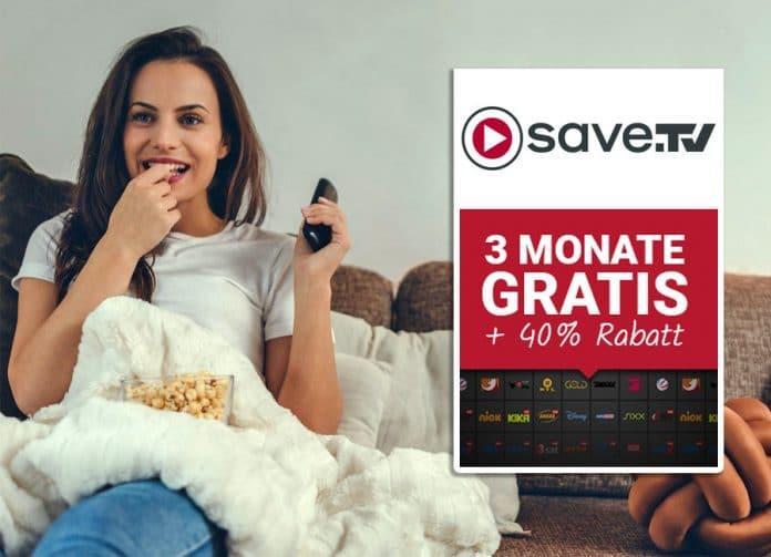 Save.TV 3 Monate gratis testen und danach 40% Rabatt auf das ausgewählte Folgepaket