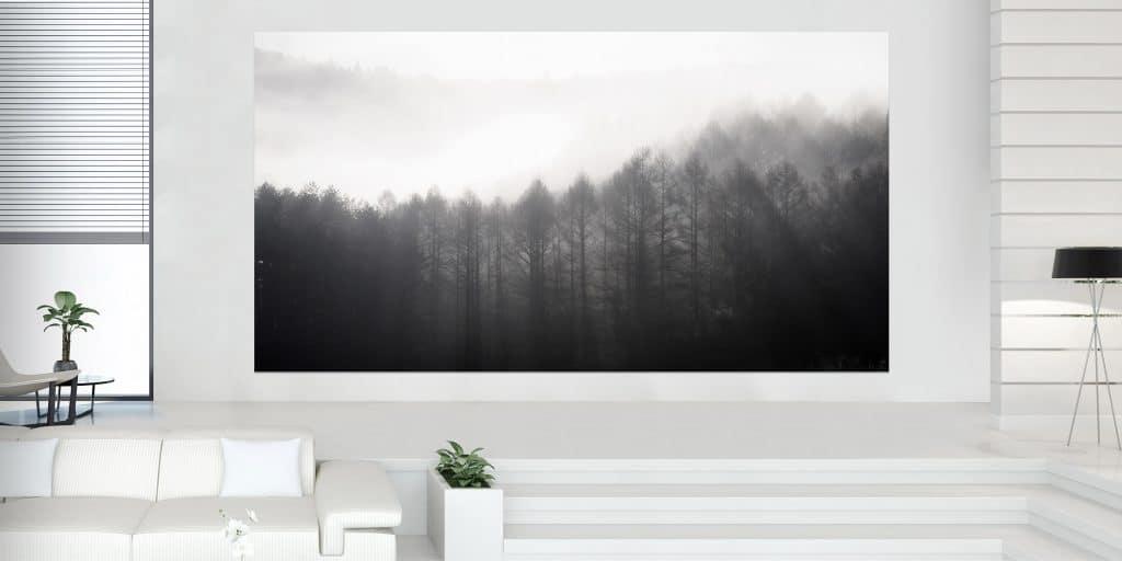 """""""The Wall Luxury"""" ist dazu konzipiert, nie ausgeschaltet zu werden. Wird der MicroLED TV nicht genutzt, werden im """"Art Modus"""" Kunstwerke gezeigt"""