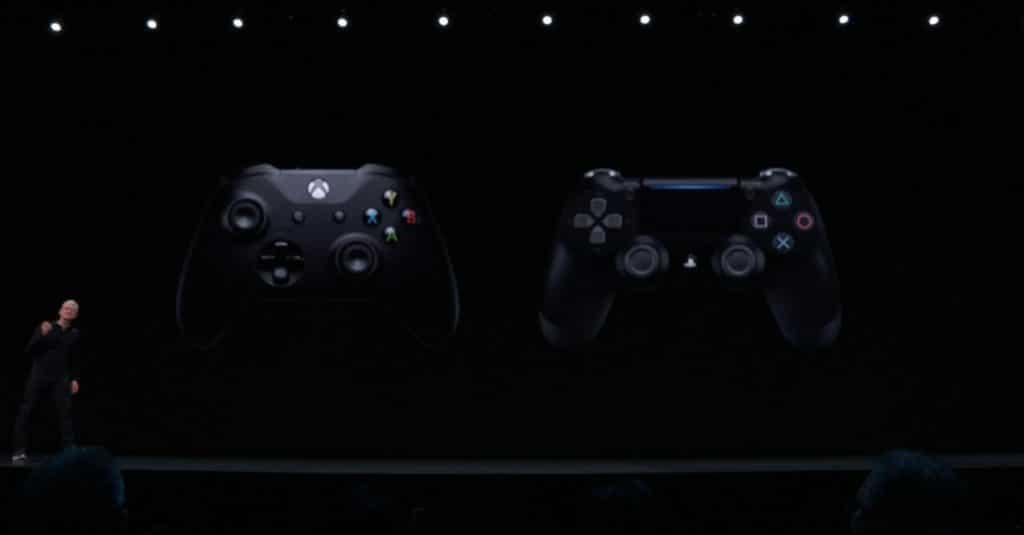 Spiele sowie der neue Apple Arcade Service lassen sich mit tvOS 13 mit dem Xbox One und dem Playstation DualShock 4 Controller steuern