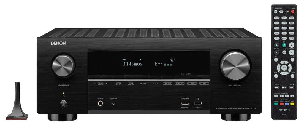 Denon AVR-X3600H komplett mit Einmess-Mikrofon und Fernbedienung