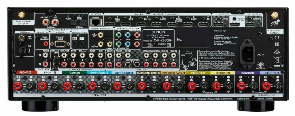 Die Anschlüsse auf der Rückseite des AVR-X3600H lassen keine Wünsche offen