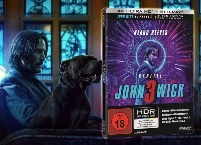 John Wick: Kapitel 3 erscheint als 4K Blu-ray Steelbook