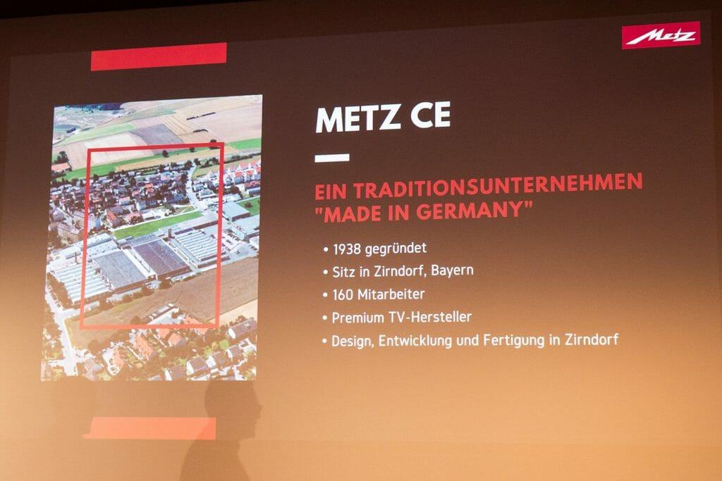 Wir bekamen einen kurzen, aber interessanten Einblick in die METZ CE GmbH