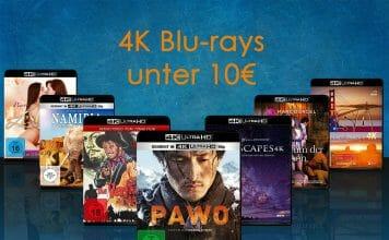 Amazon reduziert 4K Blu-rays auf unter 10 Euro. Auch die Auswahl an Titel unter 15/20 Euro ist gewachsen!