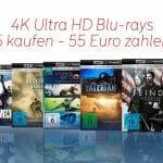 4K Ultra HD Blu-rays für nur 11 Euro - Die Auswahl innerhalb der Aktion ist aber leider etwas mau