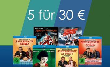 Fünf Blu-rays für 30 Euro