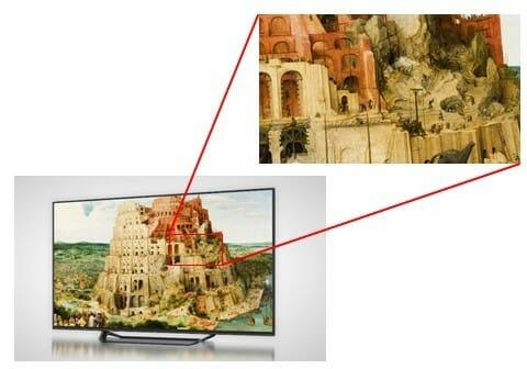 Wer hätte das gedacht, 8K Fernseher liefern einen extrem hohen Detailgrad =)