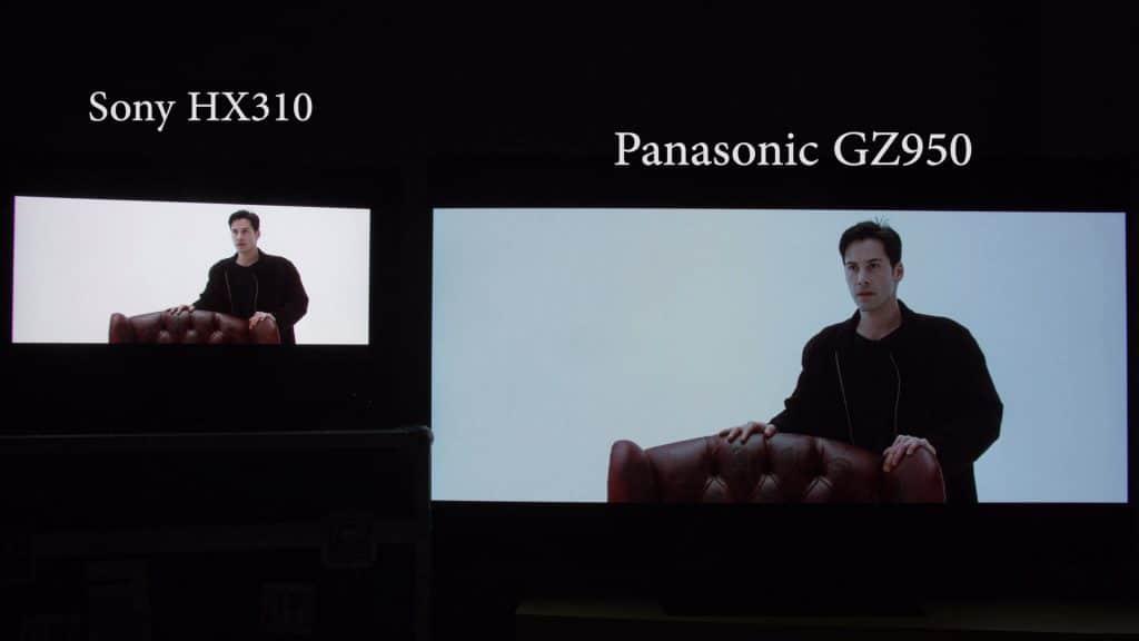 Diese Szene von der Matrix 4K Blu-ray mit einer hohen APL (Durchschnittlichen Bildhelligkeit) stellt der Sony HX310 weitaus besser als ein OLED TV dar!