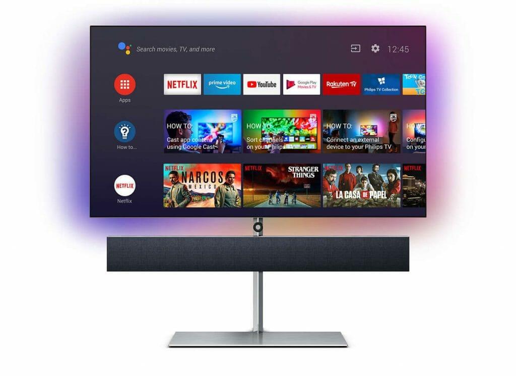 Android TV 9.0 auf dem OLED984