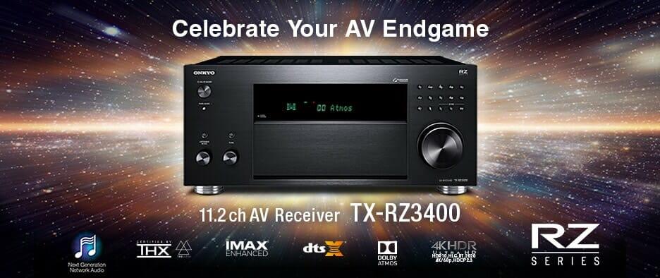 Ankündigung AV-Receiver TX-RZ3400 Onkyo Webseite