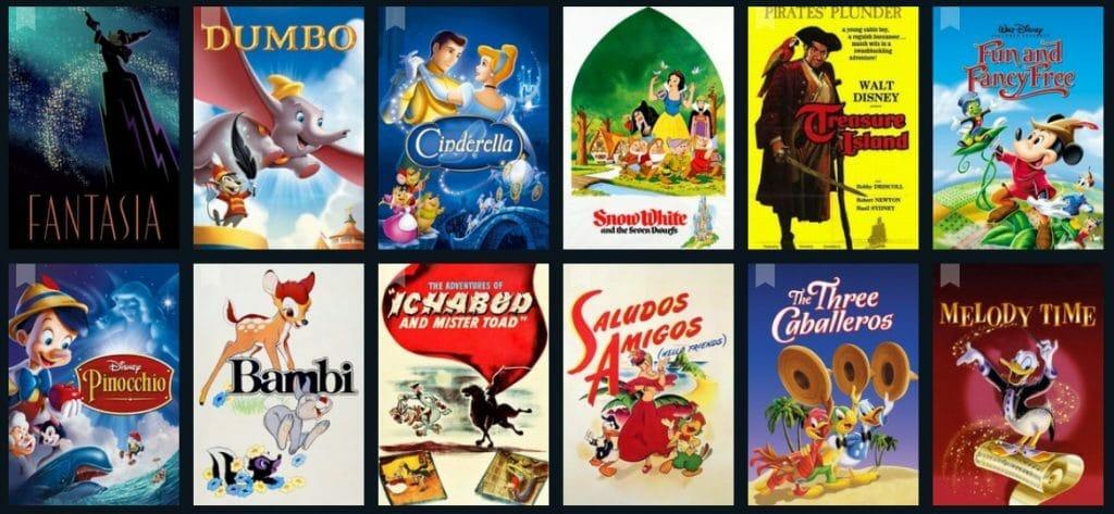 Auch Disney-Filmklassiker aus den 40er und 50er Jahren sollen sich im Streaming-Angebot wiederfinden