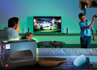 Die Philips Hue Play HDMI Sync Box liefert Surround-Beleuchtung fürs Heimkino