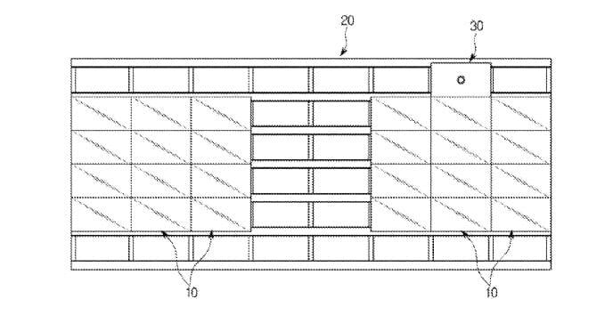 Die Rahmen-Matrix soll sich wohl auch vertikal erweitern lassen, wie hier für zwei 4:3 Displays puls Kamera