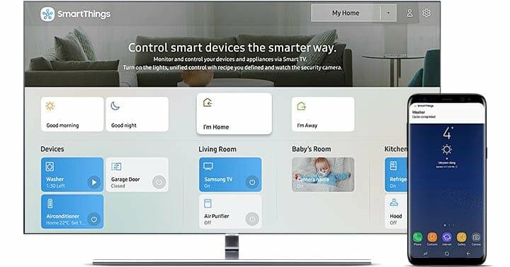 """Die Integration der SmartThings App auf den Samsung Q90R verwandelt den TV in ein """"Cockpit"""" für euer Smart Home"""