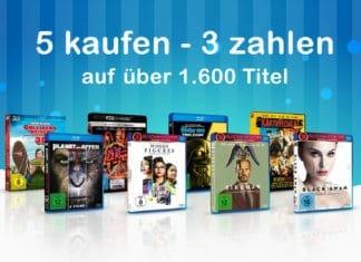 Bis 40% sparen mit der 5 kaufen - 3 zahlen Aktion von Amazon.de