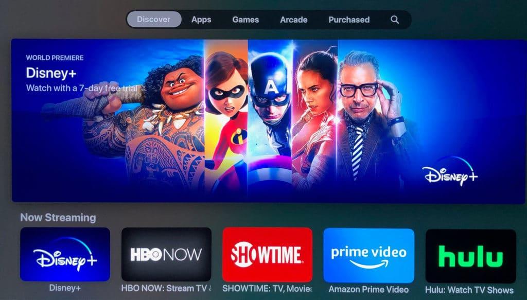 Die Disney+ App findet ihr auch im Apple TV App Store