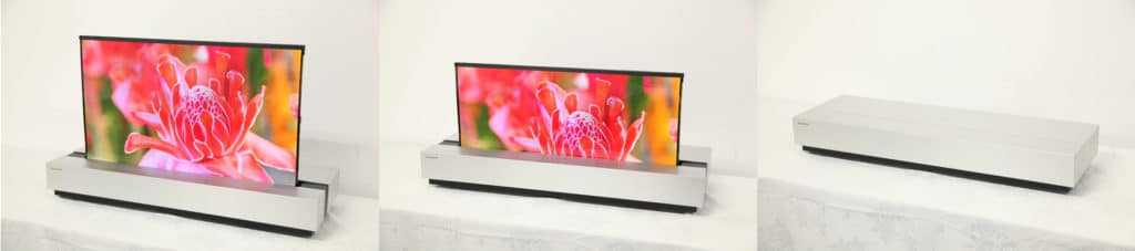 Aufrollbares 4K OLED Display von Sharp