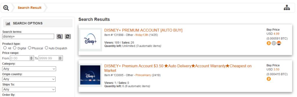 Kurz nach dem Start werden bereits Disney+ Accounts im Darknet angeboten || Bildquelle: ZDNET