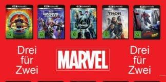 Drei Marvel Blockbuster und nur zwei bezahlen! Auch auf 4K Blu-rays