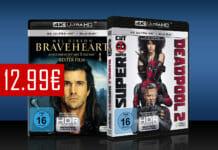Blockbuster Kino zum kleinen Preis. Deadpool 2 und Braveheart für je nur 12.99 Euro