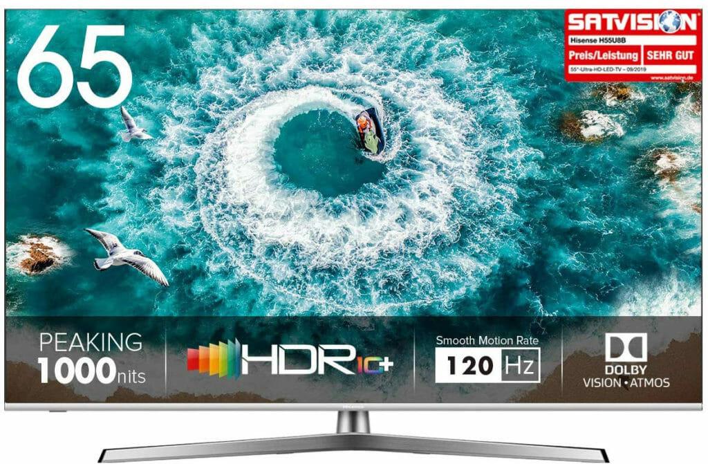 Hisense TVs wie der H65U8B bieten ein sehr gutes Preis-/Leistungsverhältnis