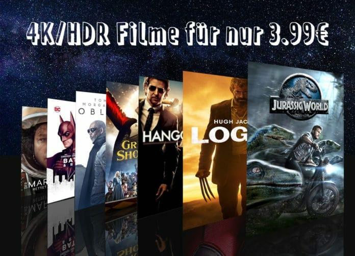 Kleiner Preis, gute Qualität. 4K HDR Filme für nur 3.99 Euro auf iTunes kaufen!