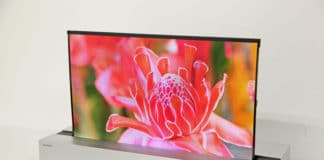 Sharp 4K OLED aufrollbar 30 Zoll Display