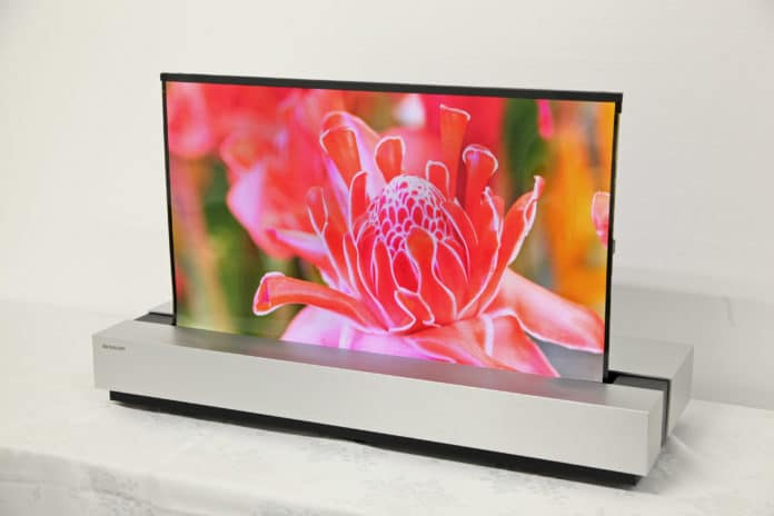 Sharp 4K OLED aufrollbar 30 Zoll Display