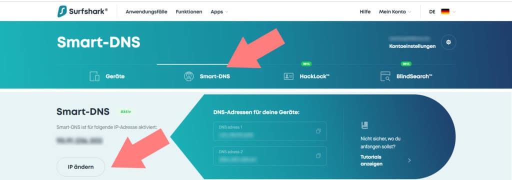 Smart DNS für die eigene IP-Adresse erstellen