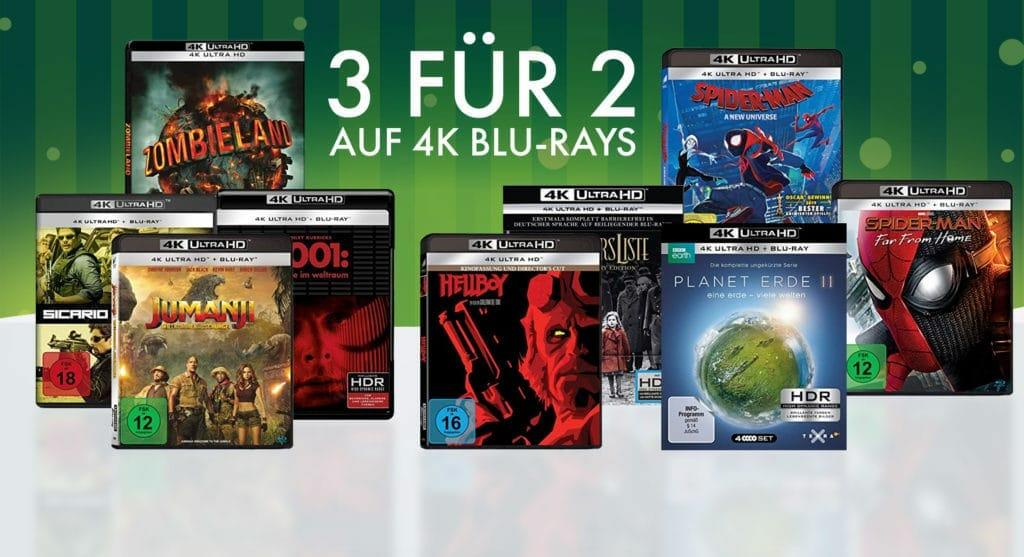 Sexy Titelauswahl in der 3-fuer-2-Aktion auf UHD Blu-rays