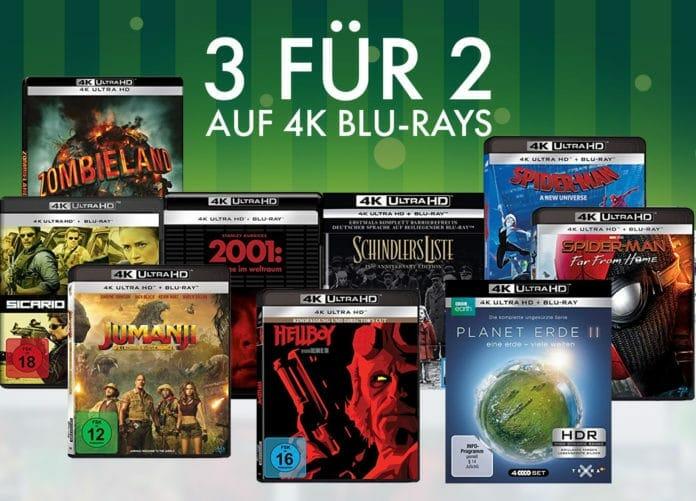 3 kaufen nur 2 zahlen auf über 260 Ultra HD Blu-rays!