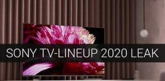 Erste TV-Modelle für 2020 von Sony wurden geleakt (4K, 8K, OLED)