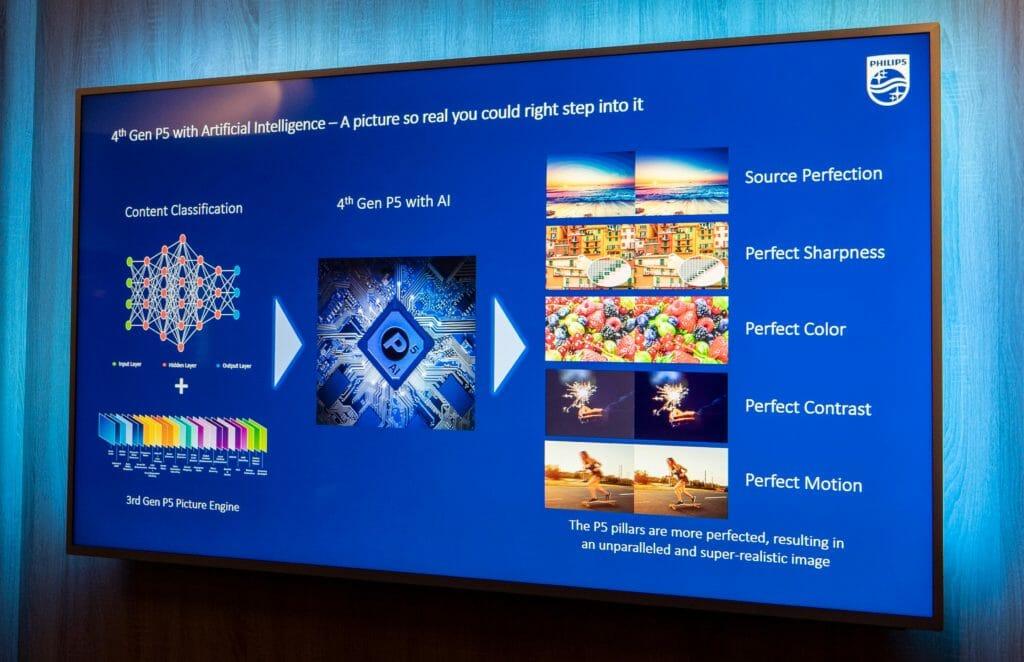 Im Endergebnis ordnet der P5 AI Prozessor die Filmszenen in 5 Kategorien ein: Natur, Gesichter, Bewegung, Dunkel und Andere (z.B. Animation)