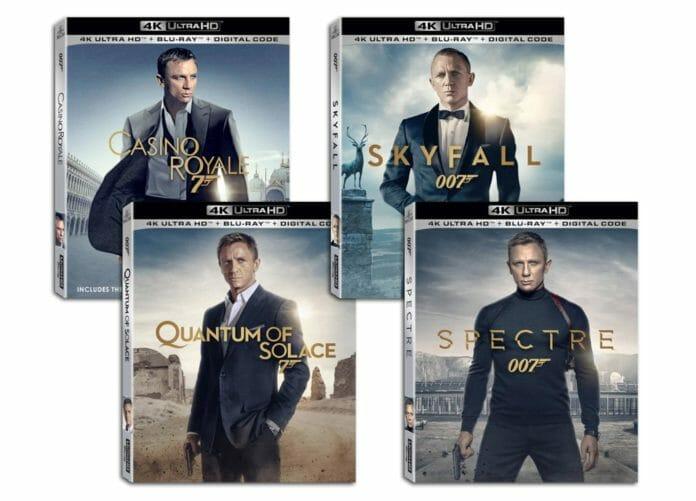 Die James Bond Filme mit Daniel Craig erscheinen als