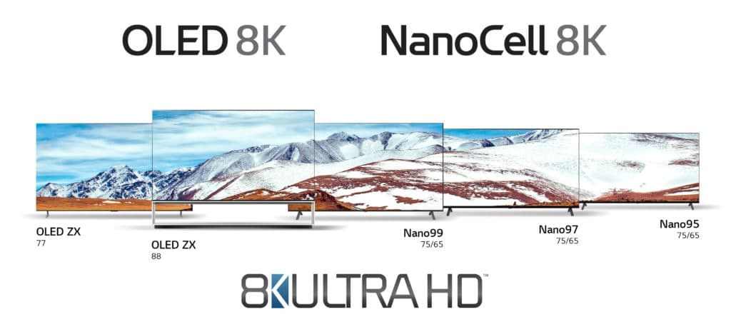 LG 8K Lineup 2020 OLED NanoCell